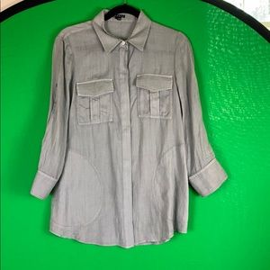 Theory miss linen blouse size M